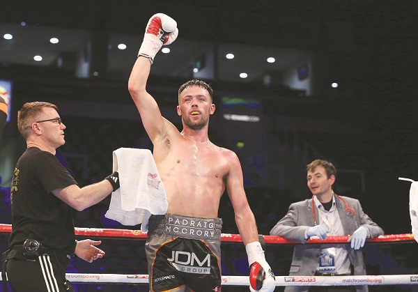 Padraig McCrory faces Norbert Szekeres on Saturday night