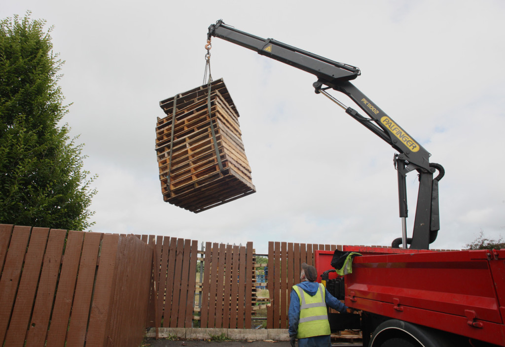 RETRIEVED: The local firm taking their pallets back