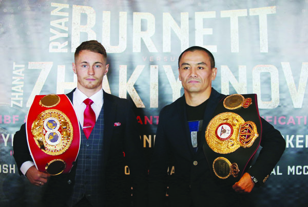 Ryan Burnett and Zhanat Zhakiyanov meet for the IBF and WBA bantamweight titles at the SSE Arena on October 21 Picture by Jonathan Porter/PressEye.com