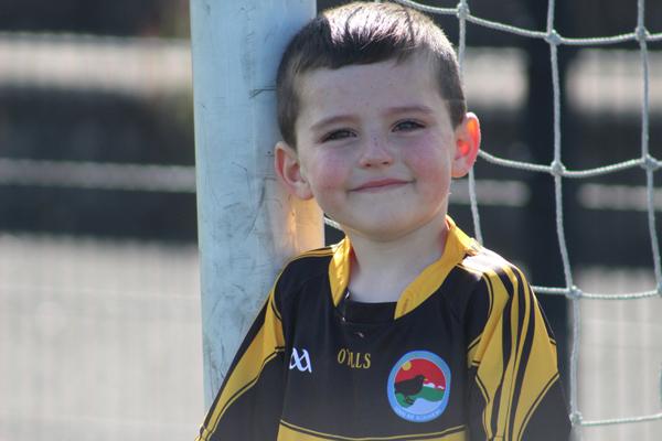 CLUBMAN:Four-year-old Cillian Ó Tuama of Laochra Loch Lao CLG