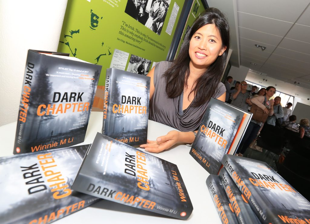 BOOK SIGNING:Winnie M Li during a visit to West Belfast in August