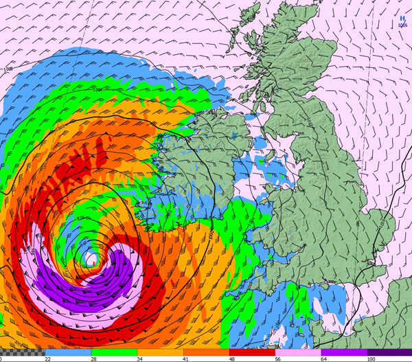 Latest image of ex-Hurricane Ophelia from Met Éireann