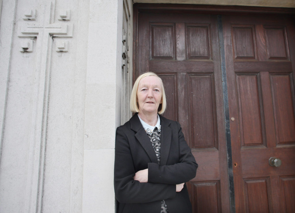 NO MASS: Oldpark Councillor Mary Clarke says there's widespread concern locally about the future of worship at the Deanby site