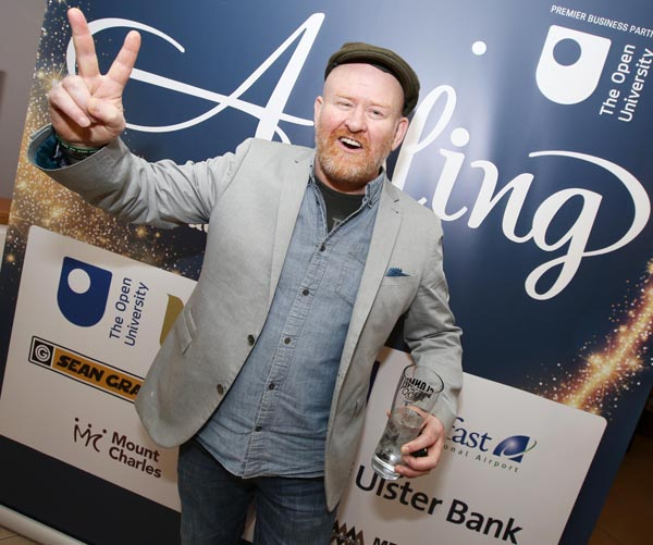 UNEXPECTED BOOST: Joby Fox at Friday's Aisling Awards