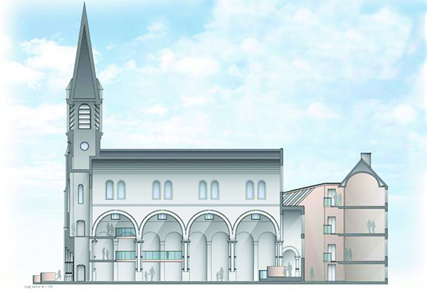 FUTURE: An artist's impression of the new St Joseph's Church and Parochial House