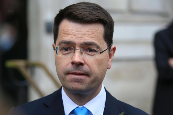 CAPTION- Northern Ireland Secretary of State James Brokenshire