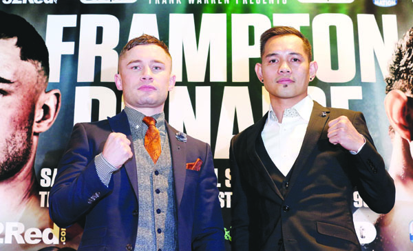 Carl Frampton and Nonito Donaire both believe victory on April 21 can lead the way to world title opportunities  Mandatory Credit ©Pressye.com / Matt Mackey