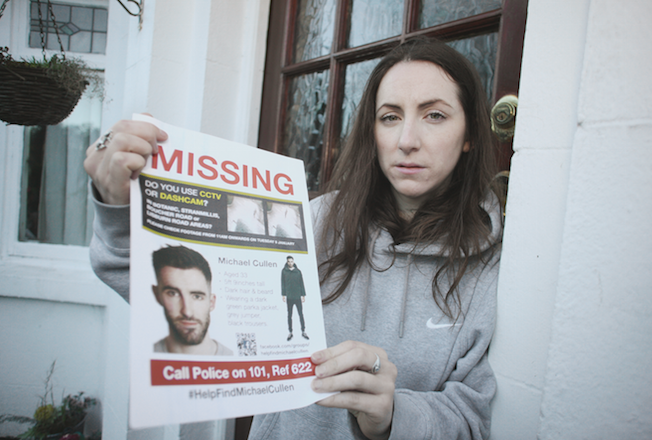 STAYING POSITIVE: Catherine Cullen is appealing for information about her brother Michael