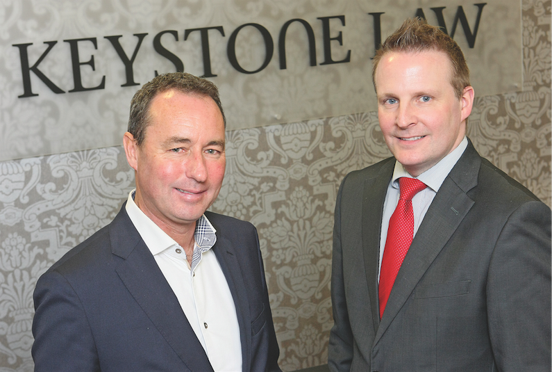 TOP TEAM: John McMahon and JP Irvine of Keystone Law