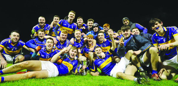 Rossa players celebrate the club's first ever Antrim U21 Football Championship title back in November