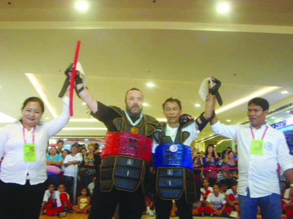 Aidan Cochrane after his recent win at the Bastonero Stick Fighting West Belfast's Aidan claims victory in the Philippines