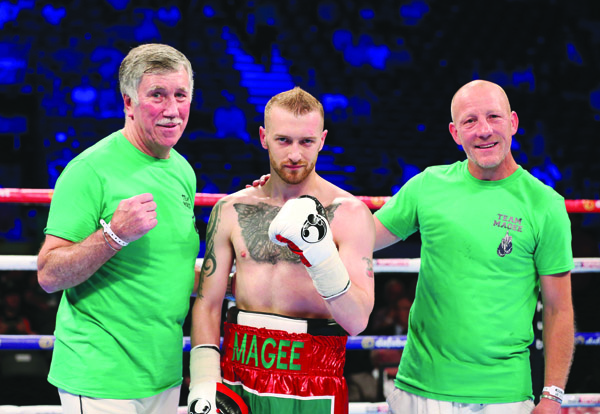Sean Magee takes on Elvis Guillen at the Devenish on Saturday night