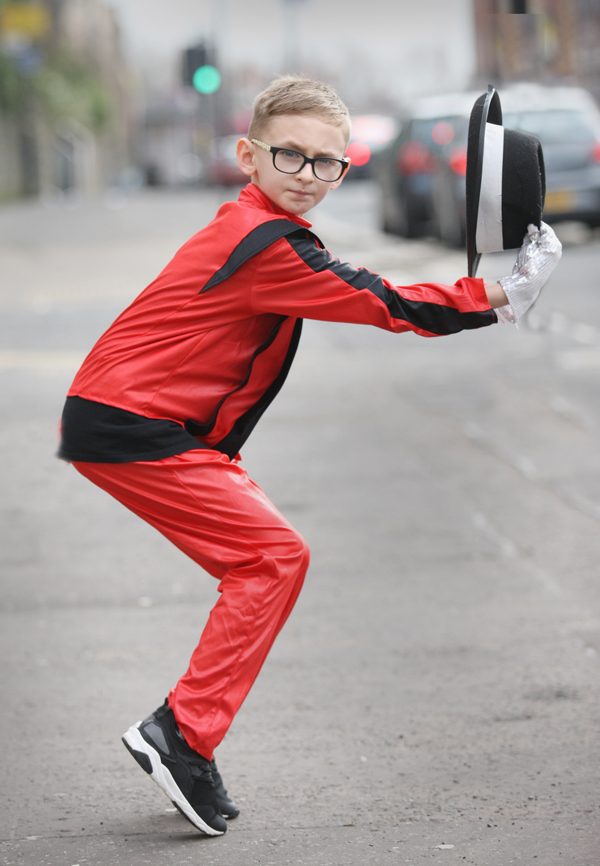 Connal Morrisey dancing on the Antrim Road