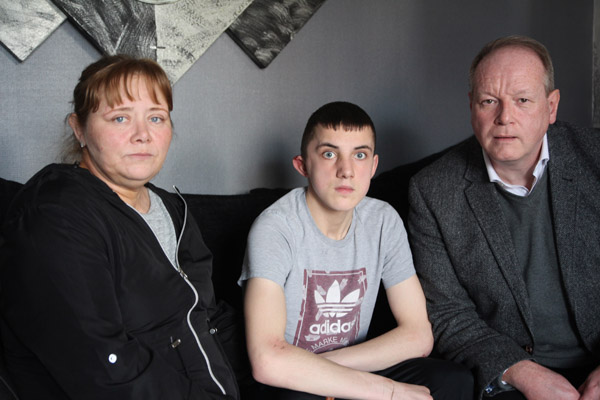 Robert Holmes was attacked by a sectarian gang on Saturday