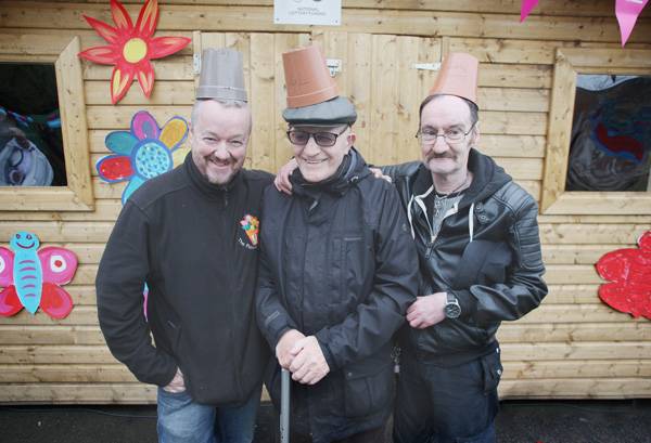 Flower Pot Men Bryan McCormack, Jim McClean and Jim Forbes – the three pals have been busy brightening up Glenbank Community Garden in Ligoniel in time for the summer