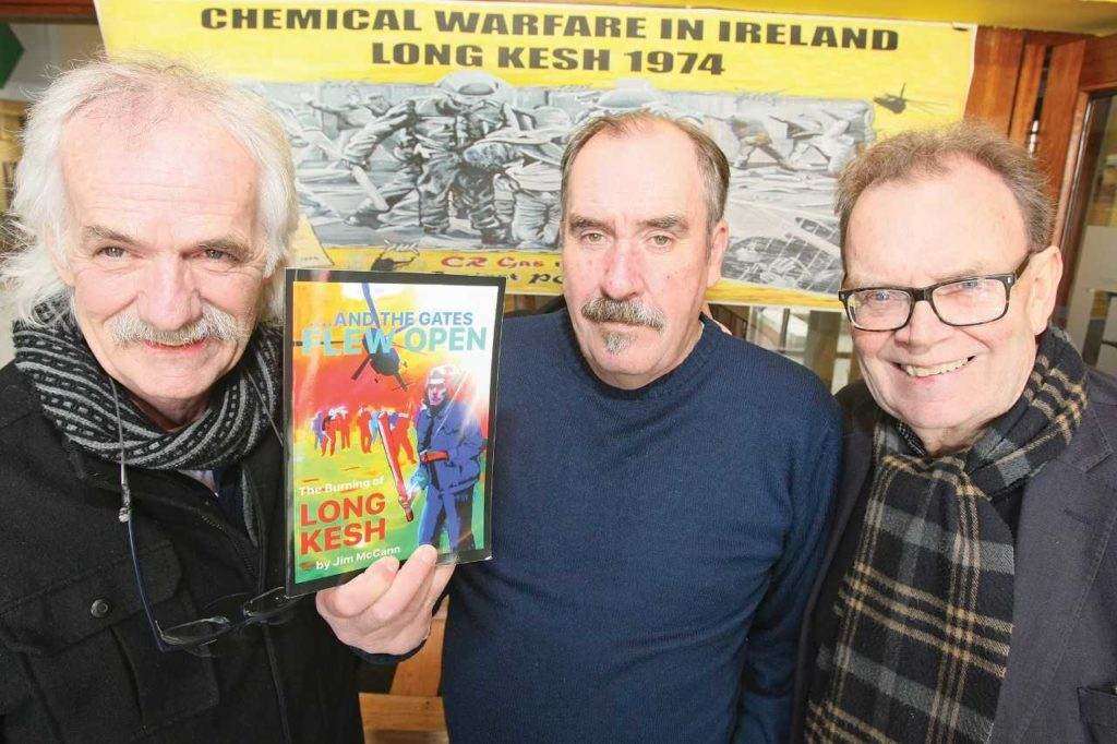 ON SALE NOW: Danny Devenny and Tom Hartley with Jim McCann who is launching his new book on Saturday