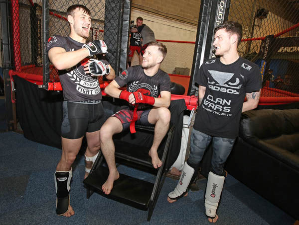 IFS MMA Gym brothers Henry,  James and Sean Corrigan from Ardoyne, ahead of 'Clan Wars 32' at the Ulster Hall on June 24