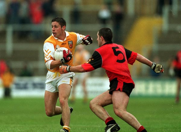 Gearóid Adams played a starring role when Antrim scored a famous win over Down in the 2000 Ulster Championship. He is now part of the Mournemen's backroom team having managed his native county in recent years