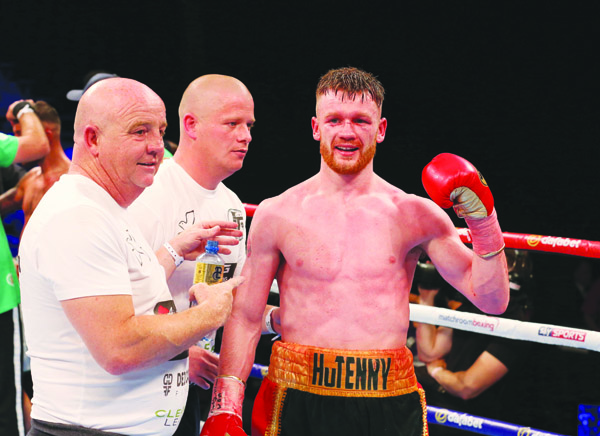 James Tennyson says he and trainer, Tony Dunlop (left) have devised the perfect game plan for a victory on Saturday that could lead to a world title opportunity later in the year
