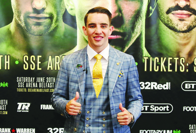 Michael Conlan ahead of his fight vs Adeilson Dos Santos
