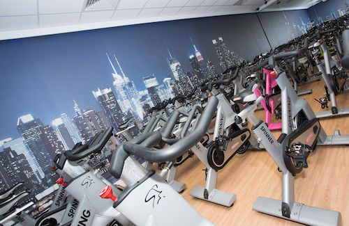 SIGN UP: The Spin Room in the new Pure Class Fitness Gym opened in the Diary Farm Centre