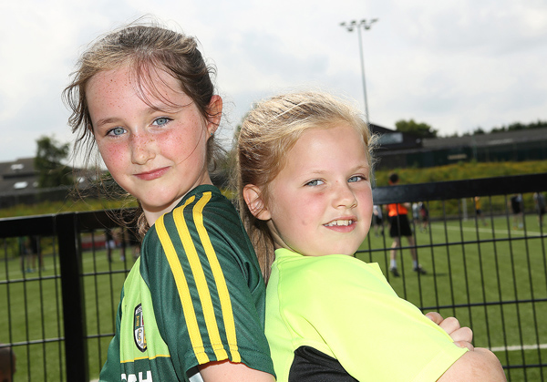 Pals Aoife Mallon and Eimear Barnes at the Martin McCauley Tournament hosted by Ardoyne GAA