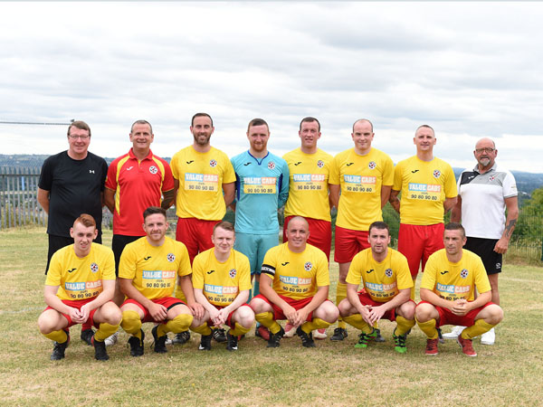 Sport and Leisure Swifts v Ards in a pre-season friendly at Swifts.  Pictured Sport and Leisure Swifts team.