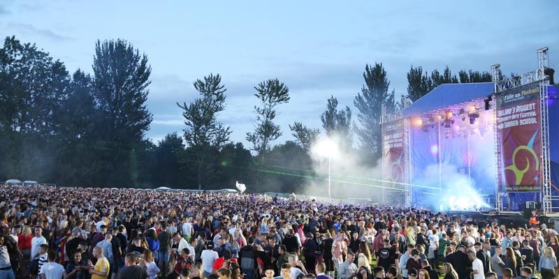 Young people packed into the new event space at the Falls Park for PlanetLove last night as part of FŽéile 30