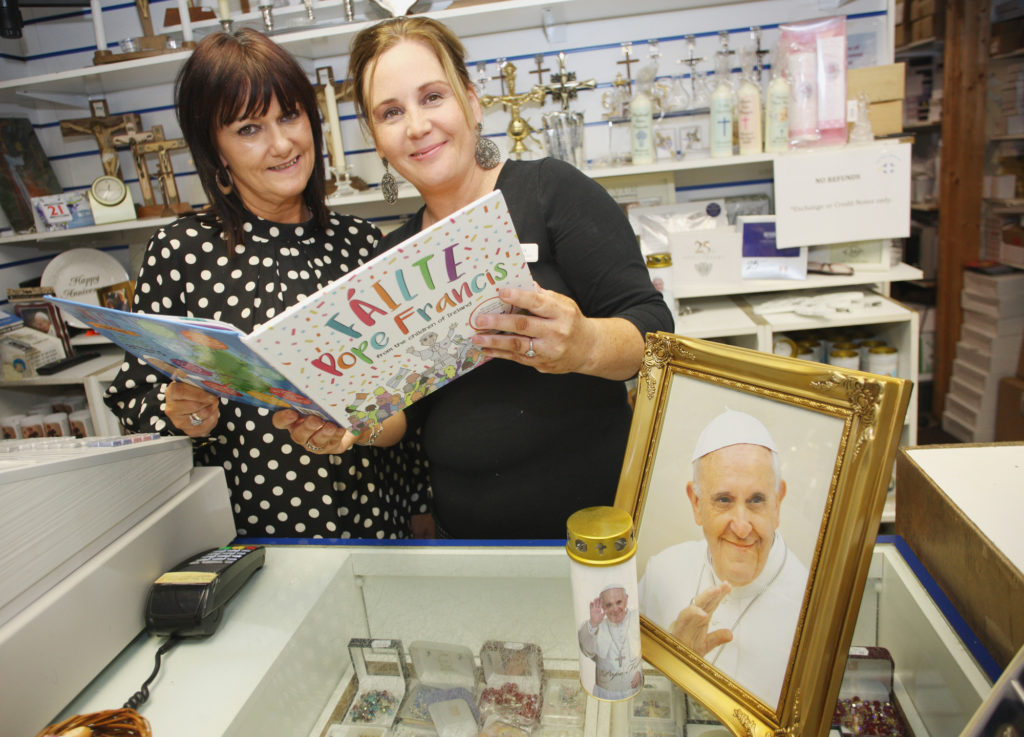 Teresa Nolan and Maura McShane in the the Holy Shop, Chapel Lane