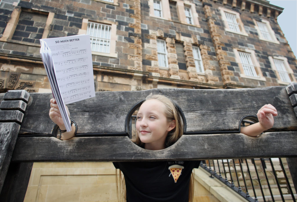 Morgain Preshaw at the Crumlin Road Gaol, where she'll be appearing in the musical Legally Blonde