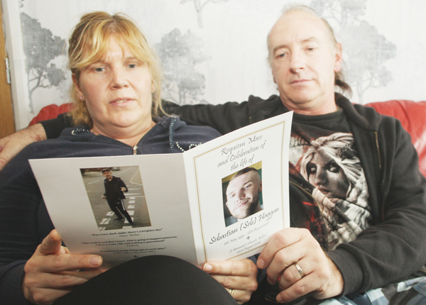 Billy and Sharon Haggan – their son Seb had been battling mental health problems for years