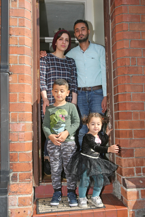 PLEA: Yosra Taleb Abdalla and Usamah Ather Ali with children Yosef Usamah Ather and Shams Usamah Ather. They are worried that they will be deported from Belfast back to Iraq