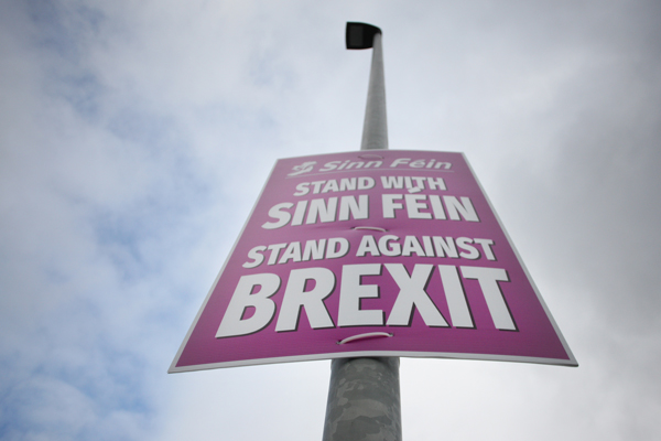 'EYESORE': Paula Bradshaw (below) has asked Sinn Féin to take the recently-erected posters down