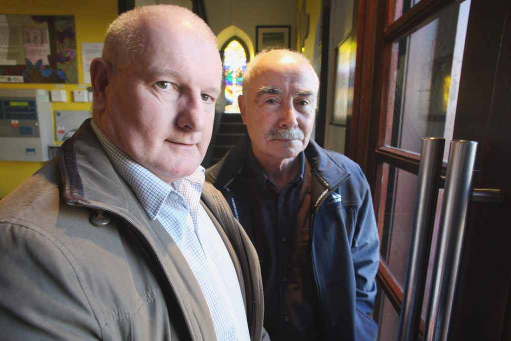 NOT FORGOTTEN: Brian Quinn and Frank Tierney, a bus driver for Casey's, whose story is told in a new book to be launched on Sunday to remember the 1975 atrocity