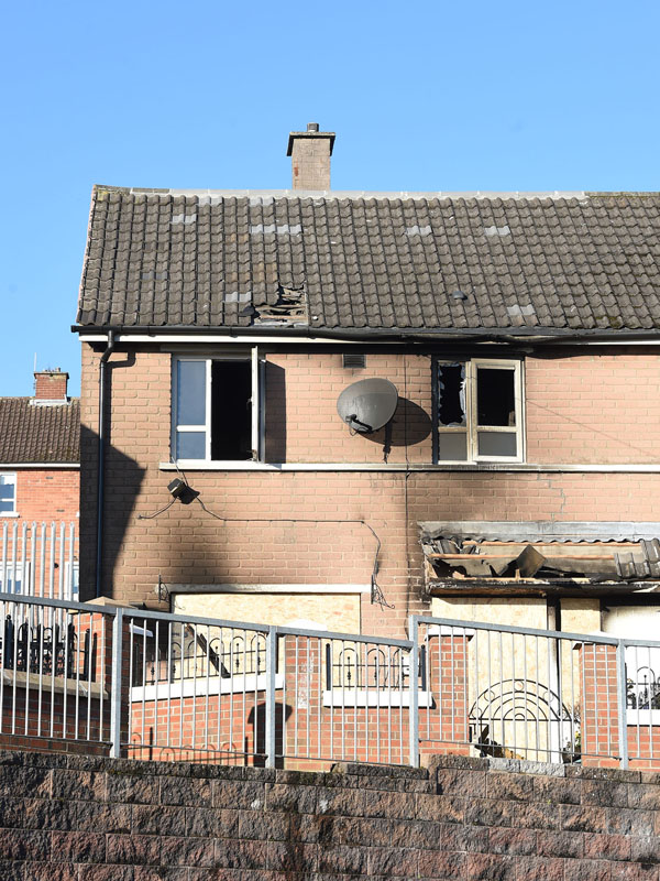 Police said it is extremely fortunate that the Fire Service were quickly on the scene, as the fire could have easily spread to adjoining properties causing further damage and distress.
