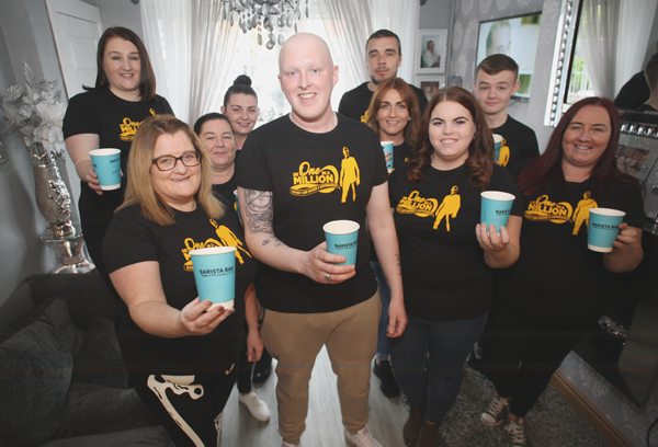 TOGETHER:Joining Ryan Braniff for the coffee morning during Bone Cancer Awareness Week