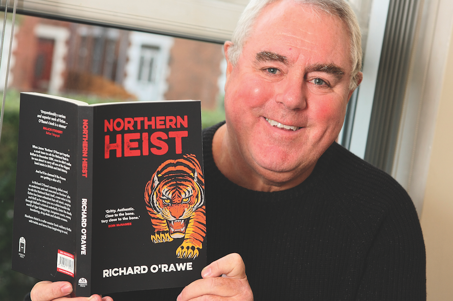 READ ALL ABOUT IT: Writer Richard O'Rawe with his first novel, Northern Heist