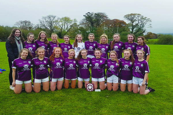 Bredagh celebrate following their Down Ladies Minor Football Championship victory over Carryduff