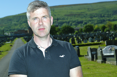 CRISIS: Sinn Féin Councillor Steven Corr in the City Cemetery