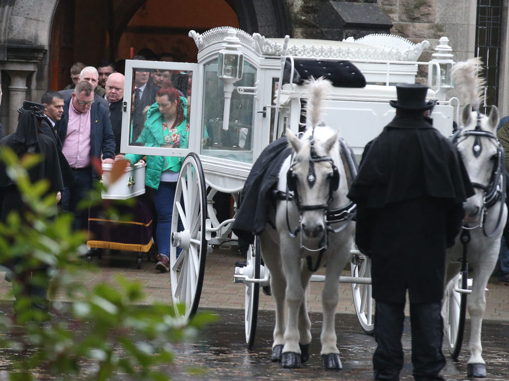 HEARTBREAK: Caoilte was laid to rest on Wednesday