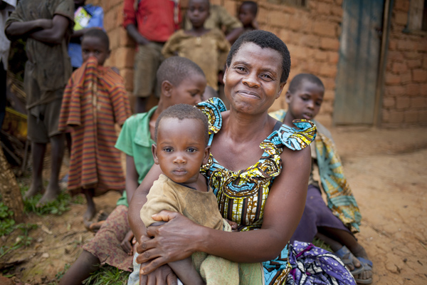 SUPPORT: Community Health Worker Jeannette Icimanishatse (52) with one-year-old Nadia Niyihankuye Bukinanyana in Cibitoke
