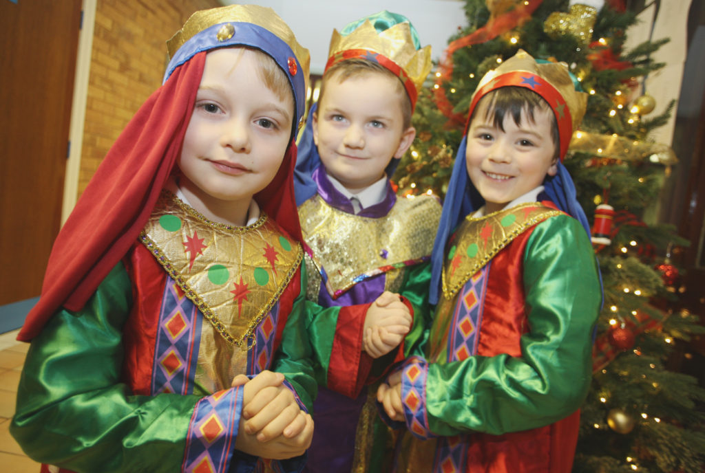 Kings Eadan, Conan and Jimmy at St Patrick's Primary School Nativity