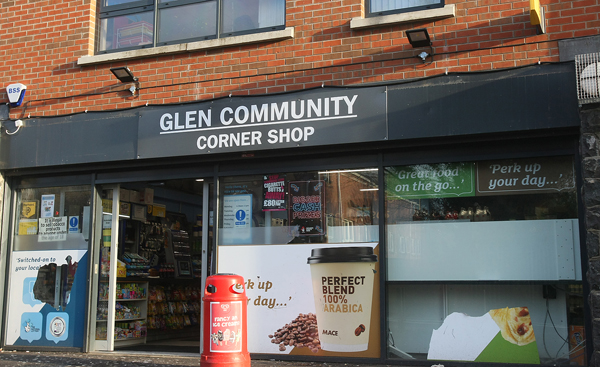 Pictured: The Mace convenience store on the Suffolk Road where two members of staff were robbed yesterday
