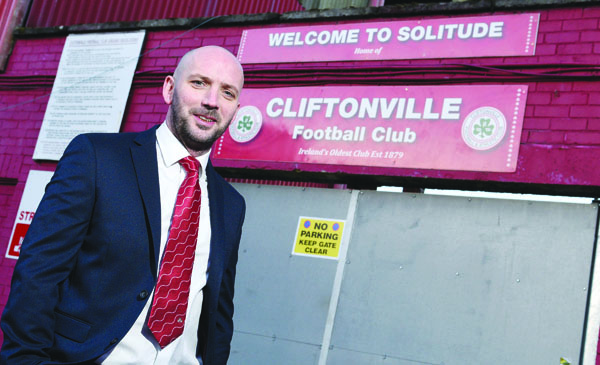 Paddy McLaughlin was unveiled as Cliftonville's new manager on Monday