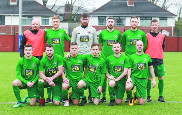 Crumlin Star, pictured before their recent win over Ballynahinch Olympic at The Cricky, will be aiming for another cup upset when they take on Premier Intermediate outfit Annagh United in the quarter-final of the Intermediate Cup on Saturday afternoon