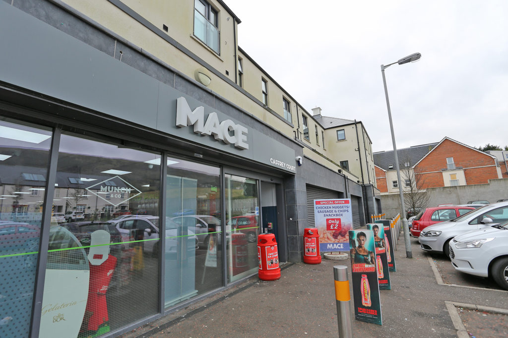 The Mace at Caffrey Hill where the drug-fuelled robbery took pace