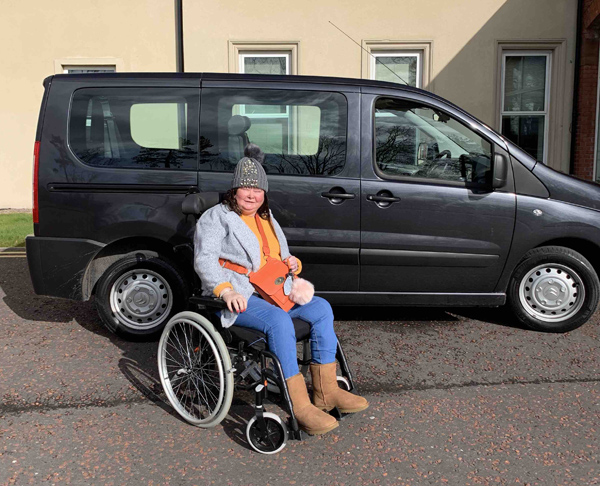 ON THE ROAD: Sheenagh Mason with the new vehicle