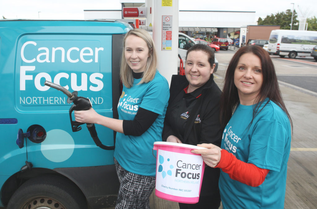 Fuelling  Anna-Marie Nolan's attempt to run the Chicago marathonat the Madigan's Court Spar in North Belfast, which is backing her fundraising efforts along with Joisie McKernan and Jillian Wallace