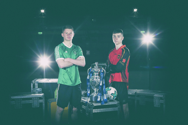 Pictured at the launch of the 2019 Danske Bank Schools' Cup Finals are team captains Patrick Burns, St Malachy's College  and Calvin McCurry, De La Salle College