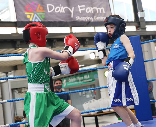 Colin Neighbourhood Project held a Community Boxing Event in the Dairy Farm as part of Creativity Month